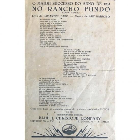 Letra Da Musica – No Rancho...