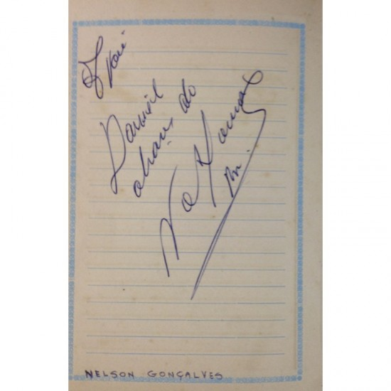 Nelson Gonçalves - autógrafo