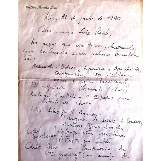 Carta Manuscrita Pelo...