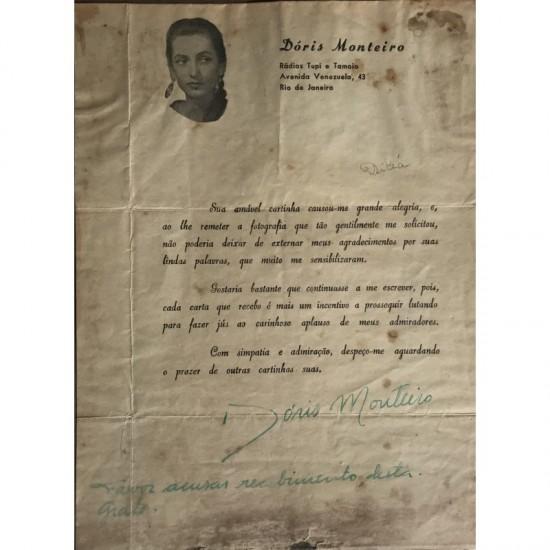 Doris Monteiro carta...