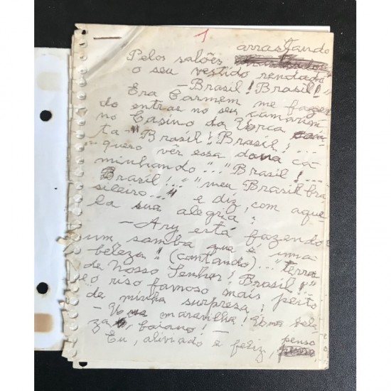 Depoimento manuscrito e...