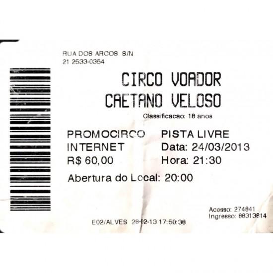 Caetano Veloso-ingresso do...